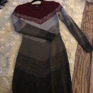 IZ Byer Medium colorblock sweater dress